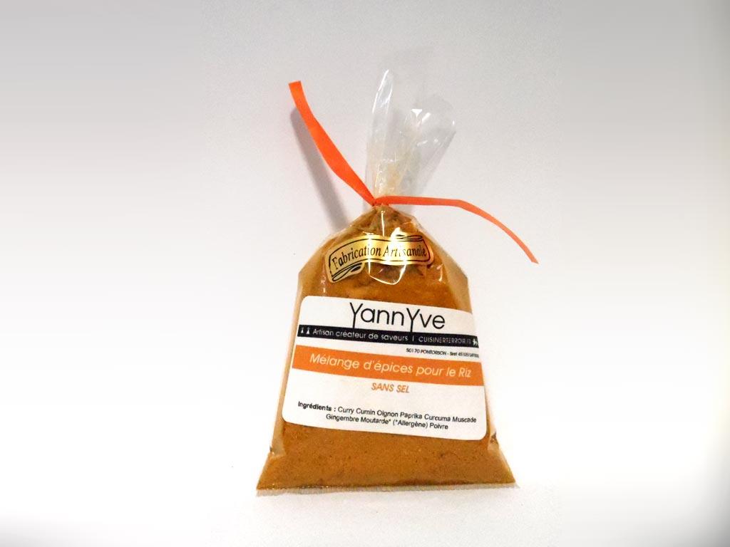 Mélange d'épices (sans sel) pour la cuisson du Riz