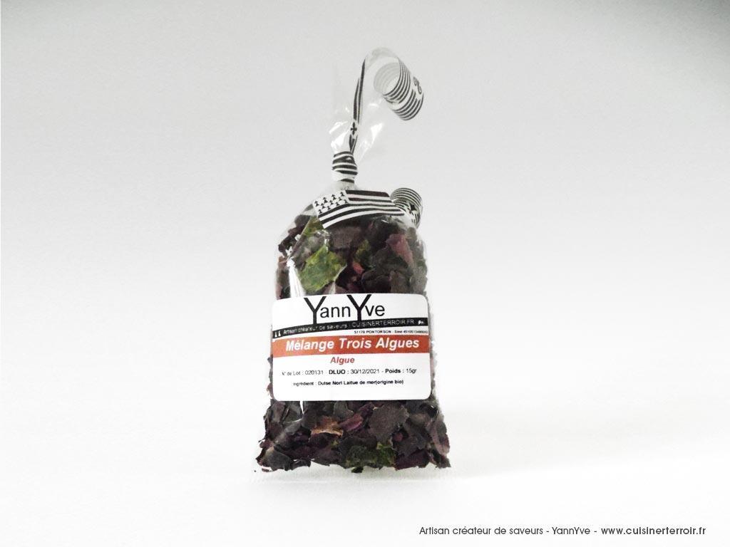 Mélange trois algues alimentaires
