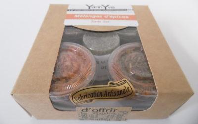 coffret X 5 pots de Mélange d'épices Artisanal